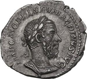 obverse: Macrinus (217-218). AR Denarius, 218 AD