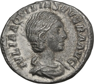 obverse: Aquilia Severa, second wife of Elagabalus (220-222). . AR Denarius, struck under Elagabalus, 220-222