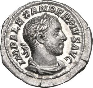 obverse: Severus Alexander (222-235 AD). AR Denarius, 231-235 AD