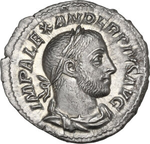 obverse: Severus Alexander (222-235). AR Denarius
