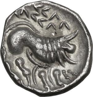 reverse: Cisalpine Gaul, the Po Valley. AR Drachm, imitating Massalia, 2nd century BC