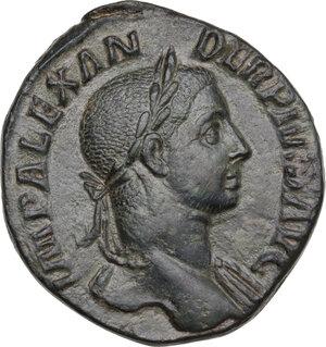 obverse: Severus Alexander (222-235). AE Sestertius