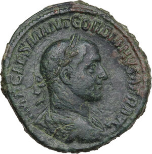 obverse: Gordian I Africanus (238 AD). AE Sestertius