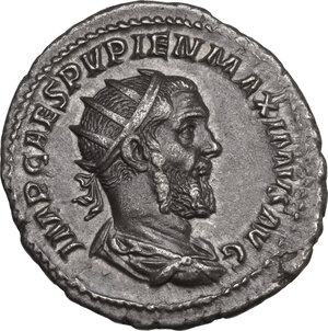 obverse: Pupienus (238 AD). AR Antoninianus, 238 AD
