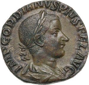 obverse: Gordian III (238-244). AE Sestertius, 240 AD