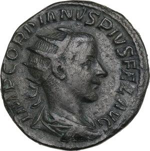 obverse: Gordian III (238-244 ). AE Dupondius