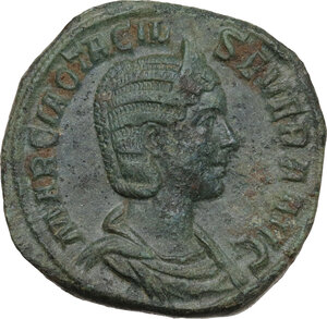 obverse: Otacilia Severa, wife of Philip I (244-249). AE Sestertius, struck under Philip I