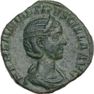 obverse: Etruscilla, wife of Trajan Decius (249-251). AE Sestertius