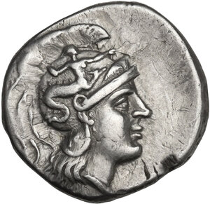 obverse: Southern Apulia, Tarentum. AR Drachm, c. 240-228 BC, Olympis magistrate