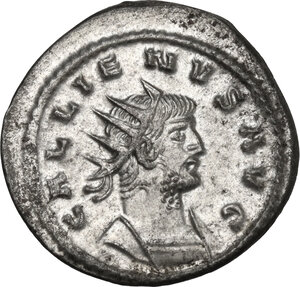 obverse: Gallienus (253-268). BI Antoninianus, Antioch mint, 265-266 AD