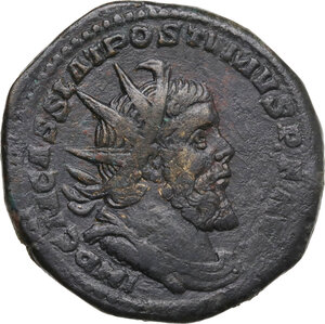 obverse: Postumus (259-268). AE Double Sestertius. Treveri mint, 261 AD