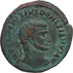 obverse: Domitius Domitianus (Usurper, 297-298). AE Follis, Alexandria mint