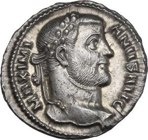 obverse: Maximianus (286-310). AR Argenteus. Siscia mint, 295 AD