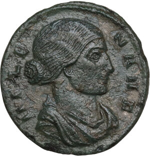obverse: Helena, mother of Constantine I (Augusta 324-330). AE Follis. Thessalonica mint, 318-319