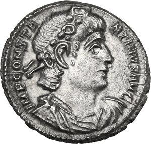 obverse: Constantine II (337-340). AR Siliqua. Treveri mint, 337-340