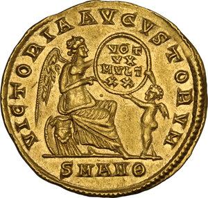 reverse: Constans (337-350). AV Solidus. Antioch mint, 337-347 AD