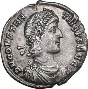 obverse: Constantius II (337-361). AR Light Miliarensis, Constantinople mint