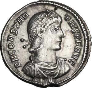 obverse: Constantius II (337-361). AR Siliqua, Constantinople mint