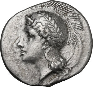 obverse: Northern Lucania, Velia. AR Didrachm, period VI, Kleudoros Group, c. 334-300 BC