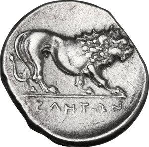 reverse: Northern Lucania, Velia. AR Didrachm, period VI, Kleudoros Group, c. 334-300 BC