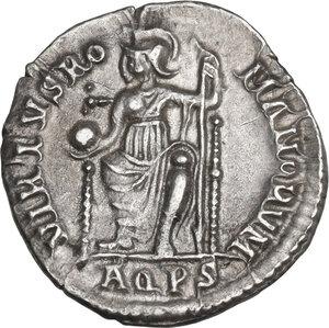 reverse: Valentinian II (375-392). AR Reduced Siliqua, Aquileia mint