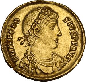 obverse: Theodosius I (379-395). AV Solidus, Constantinople mint, 378-383 AD