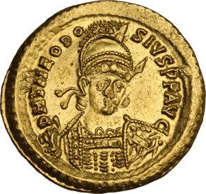 obverse: Theodosius II (402-450). AV Solidus, Constantinople mint, 430-440 AD