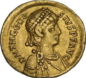 obverse: Theodosius II (408-450). AV Tremissis. Constantinople mint, 408-419