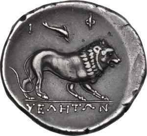 reverse: Northern Lucania, Velia. AR Didrachm, 300-280 BC