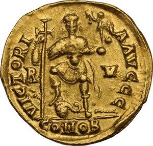 reverse: Valentinian III (425-455). AV Solidus, 426-430 AD. Ravenna mint