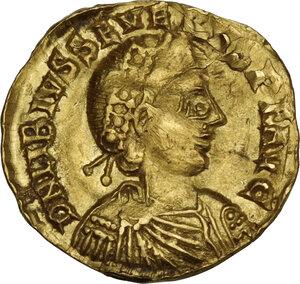 obverse: Libius Severus (Severus III, 461-465). AV Semissis. Mediolanum mint, 463-465