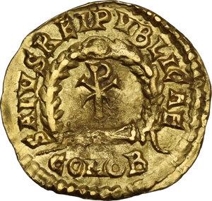 reverse: Libius Severus (Severus III, 461-465). AV Semissis. Mediolanum mint, 463-465