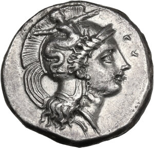 obverse: Southern Lucania, Heraclea. AR Nomos, c. 390-340 BC