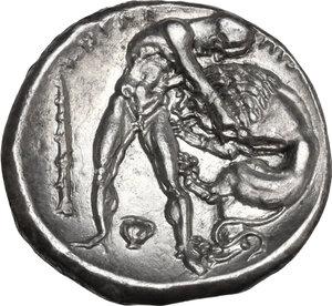reverse: Southern Lucania, Heraclea. AR Nomos, c. 390-340 BC