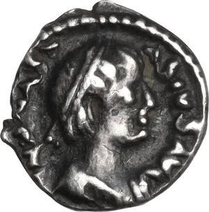 obverse: Ostrogothic Italy, Theoderic (493-526). AR Quarter Siliqua, in the name of Anastasius I. Ravenna mint, c. 493-518 AD