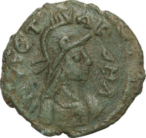 obverse: Ostrogothic Italy, Athalaric (526-534). AE Follis. Rome mint, 2nd officina, c. 526-534 AD