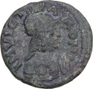 obverse: Ostrogothic Italy, Athalaric (526-534). AE Half Follis. Rome mint, c. 526-534 AD