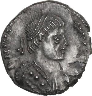 obverse: Ostrogothic Italy, Witigis (536-539). AR Half Siliqua in the name of Justinian I. Ravenna mint