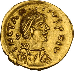 obverse: Lombardic Italy. Rodwald (652) to Grimwald (662-671). AV Tremissis in the name of Constans II (641-668)