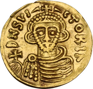 obverse: The Lombards at Beneventum. Arichis II, as Princeps (774-787). AV Tremissis