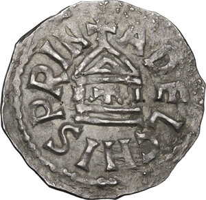 obverse: The Lombards at Beneventum. Adelchis (833-878). AR Denarius