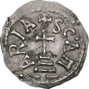reverse: The Lombards at Beneventum. Adelchis (833-878). AR Denarius