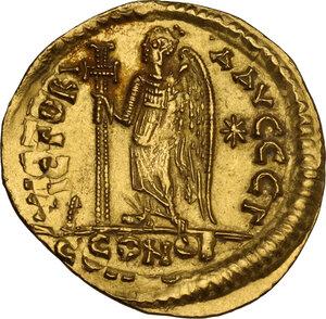 reverse: Anastasius I (491-518). AV Solidus, Constantinople mint, c. 492-507 AD