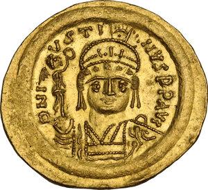 obverse: Justin II (565-578). AV Solidus, Constantinople mint
