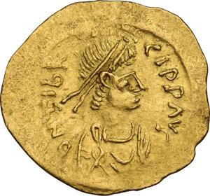 obverse: Maurice Tiberius (582-602). AV Tremissis, Constantinople mint