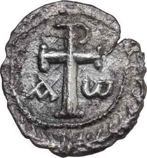 reverse: Phocas (602-610). AR Half Siliqua, Carthage mint, 603 BC