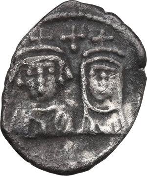 obverse: Heraclius (610-641). AR Half Siliqua, Carthage mint