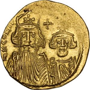obverse: Constans II (641-668). AV Solidus, Constantinople mint, c. 661-663 AD