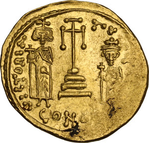 reverse: Constans II (641-668). AV Solidus, Constantinople mint, c. 661-663 AD