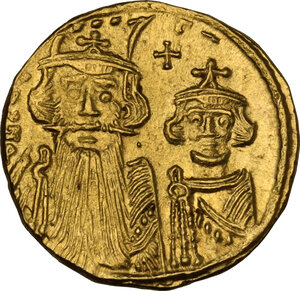 obverse: Constans II (641-668). AV Solidus, Constantinople mint, c. 661- 663 AD